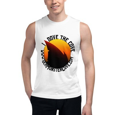 I Dove The Cove (Black Letters) Muscle Shirt