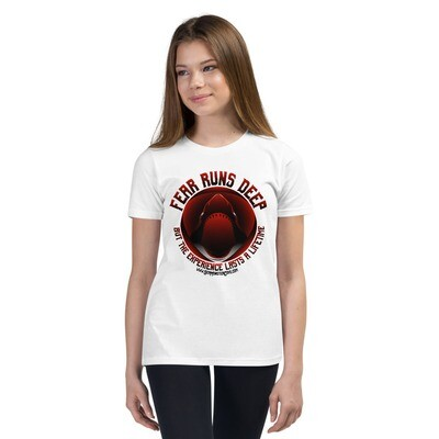 Fear Runs Deep (Red/Black Letters) Youth Short Sleeve T-Shirt