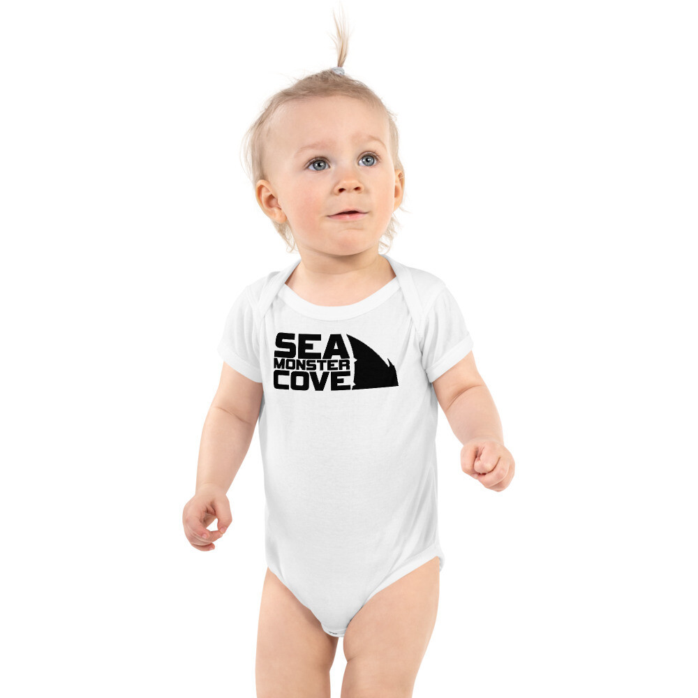 Sea Monster Cove (Black Letters) Infant Bodysuit