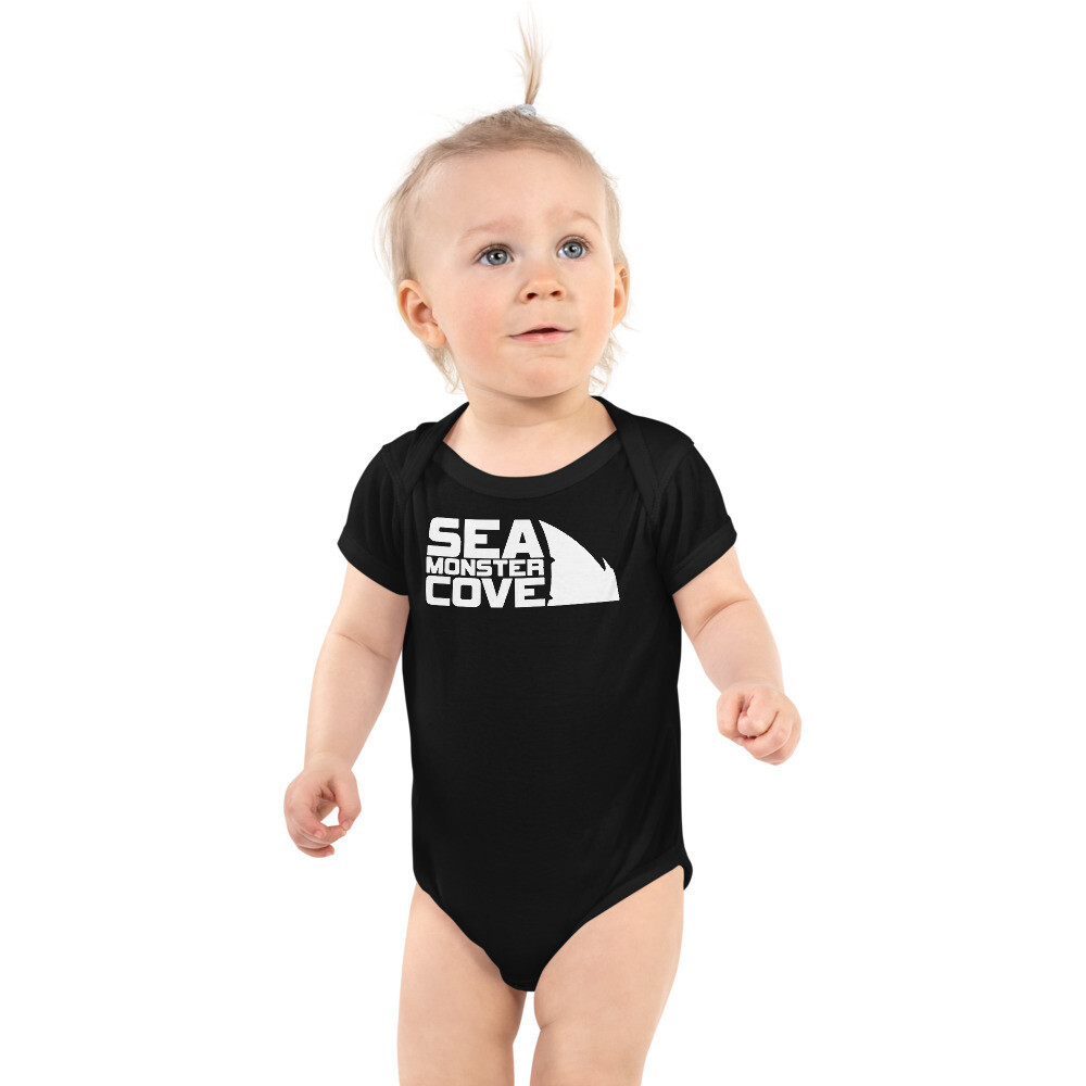 Sea Monster Cove (White Letters) Infant Bodysuit