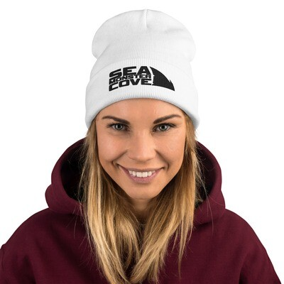 Sea Monster Cove (Black Letters) Embroidered Beanie