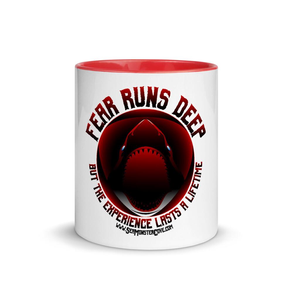 Fear Runs Deep Mug with Color Inside