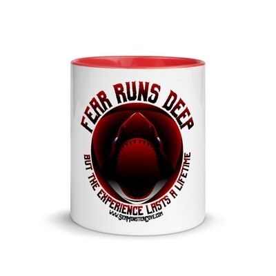 Fear Runs Deep Mug with Color Inside