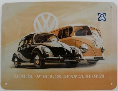Der Volkswagen - Blechschild