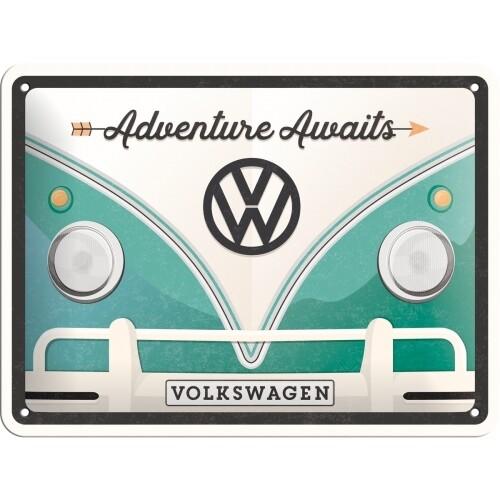 Adventure Awaits - Blechschild