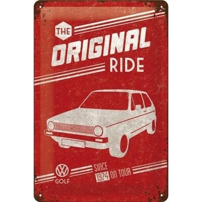 The Original Ride Golf - Blechschild