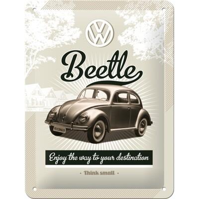 Beetle - Blechschild