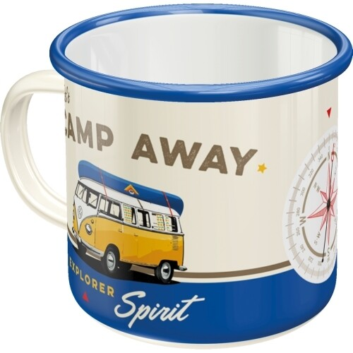 Let´s Camp Away - Emaille-Becher