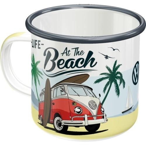 VW Bulli Beach - Emaille-Becher