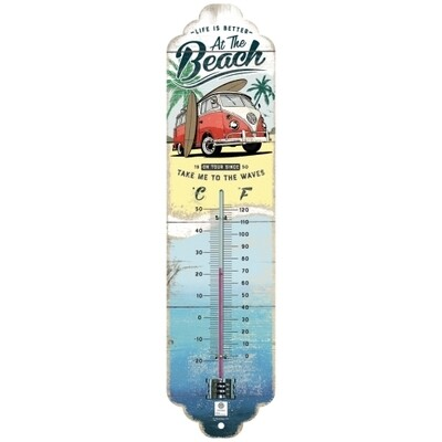VW Bulli Beach - Thermometer