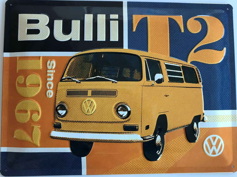 Bulli T2 - Blechschild