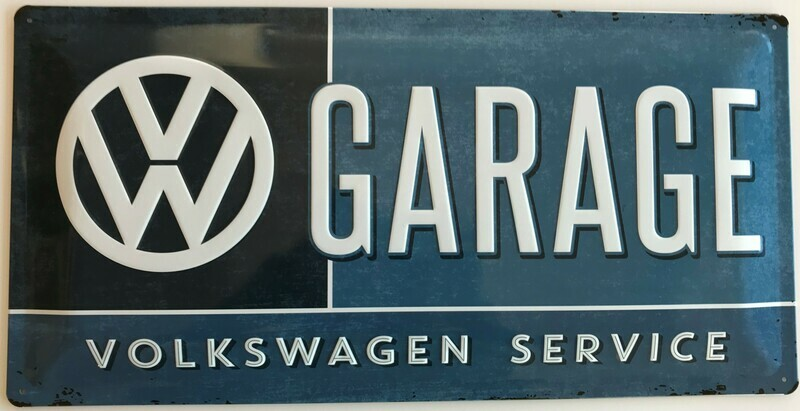 VW Garage - Blechschild