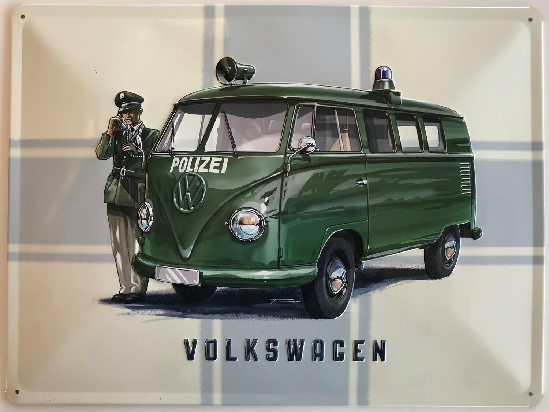 T1 Polizei - Blechschild