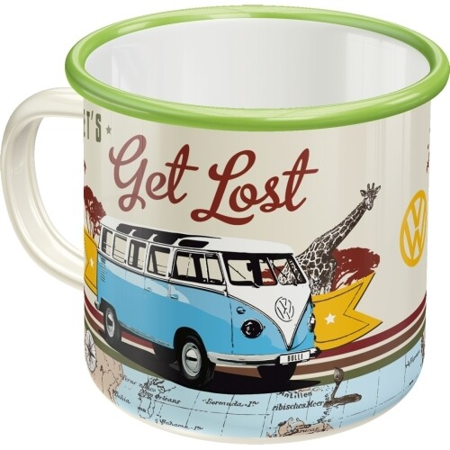 Let´s Get Lost - Emaille-Becher