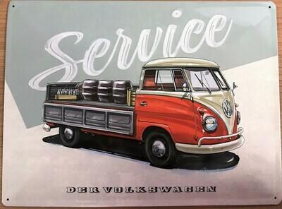 T1 Service - Blechschild