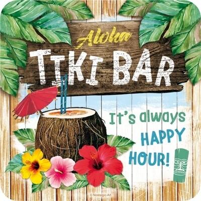 Tiki Bar - Metalluntersetzer