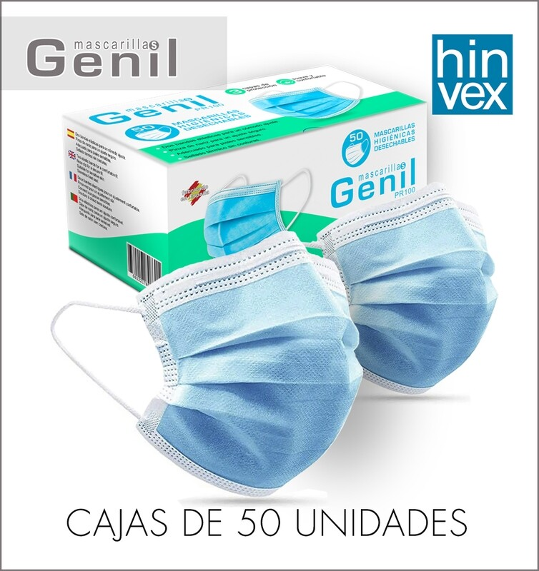 Mascarilla Genil PR 100. Desde 1 Caja