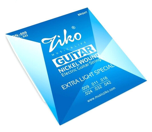 Electric Guitar String set 6 strings Ziko Nickel wound