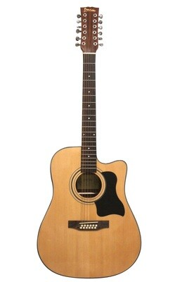 Acoustic Electric Guitar 12 Strings Built in Tuner, EQ Natural iMusic12EQ