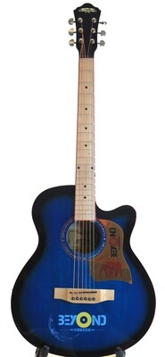 Factory Error - Acoustic Guitar 40 inch for Beginners Blue Unique style iMusic224NP