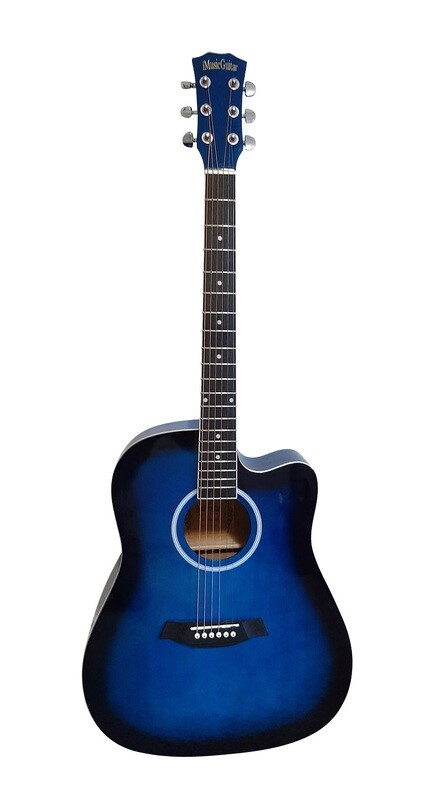 Acoustic Guitar for Beginners, Students Blue iMusic641