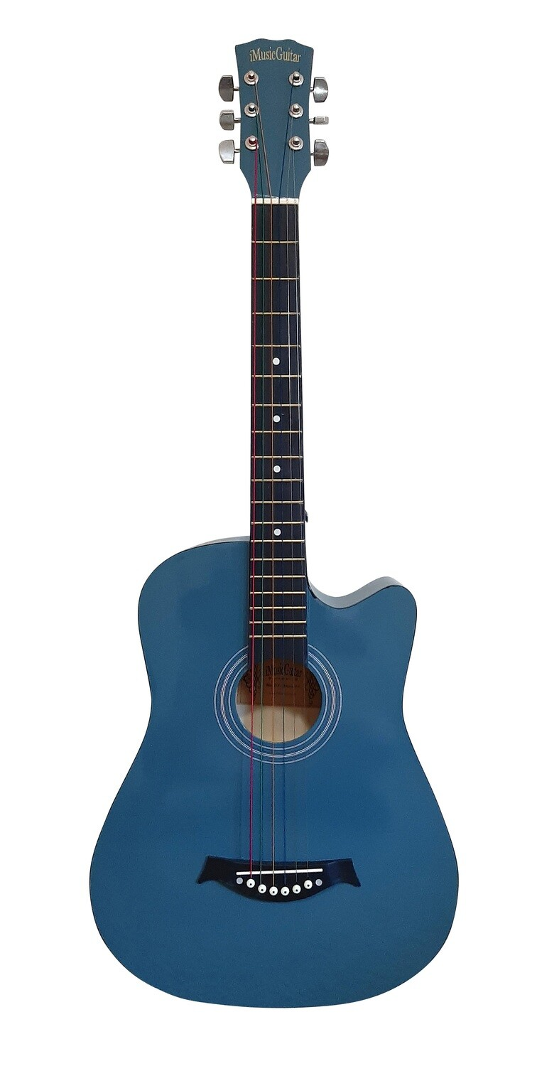 Acoustic Guitar 38 inch for Children Blue iMusic675