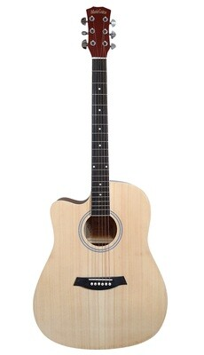 Left handed Acoustic Guitar for beginners Natural iMusic640LF