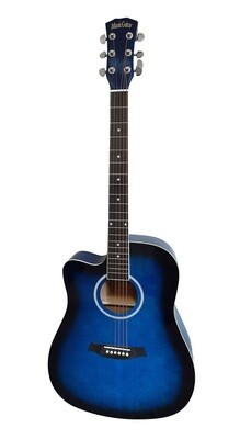 Left handed Acoustic Guitar for beginners Blue iMusic641LF