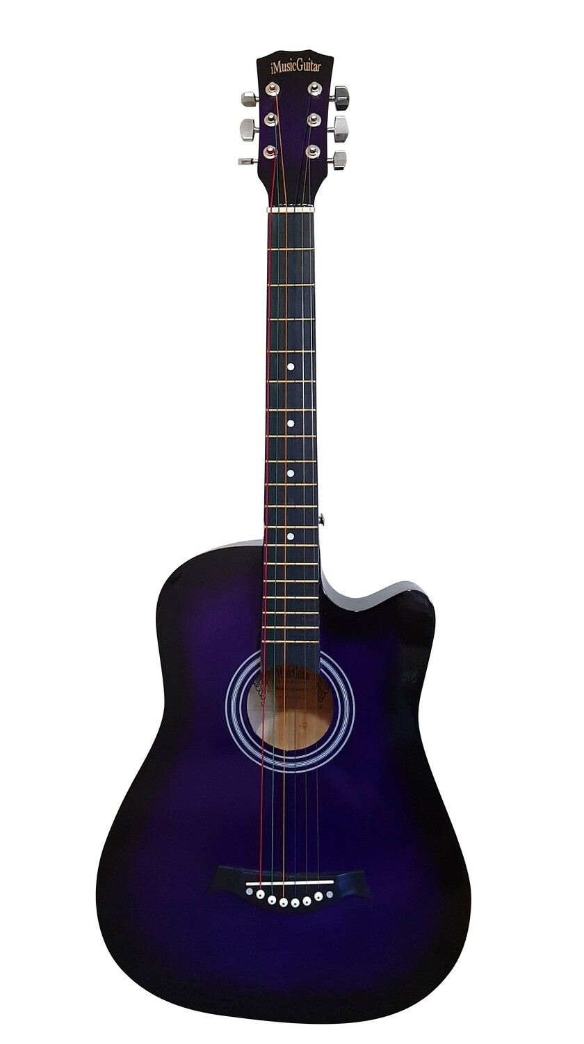 Acoustic Guitar 38 inch for Children Purple iMusic672