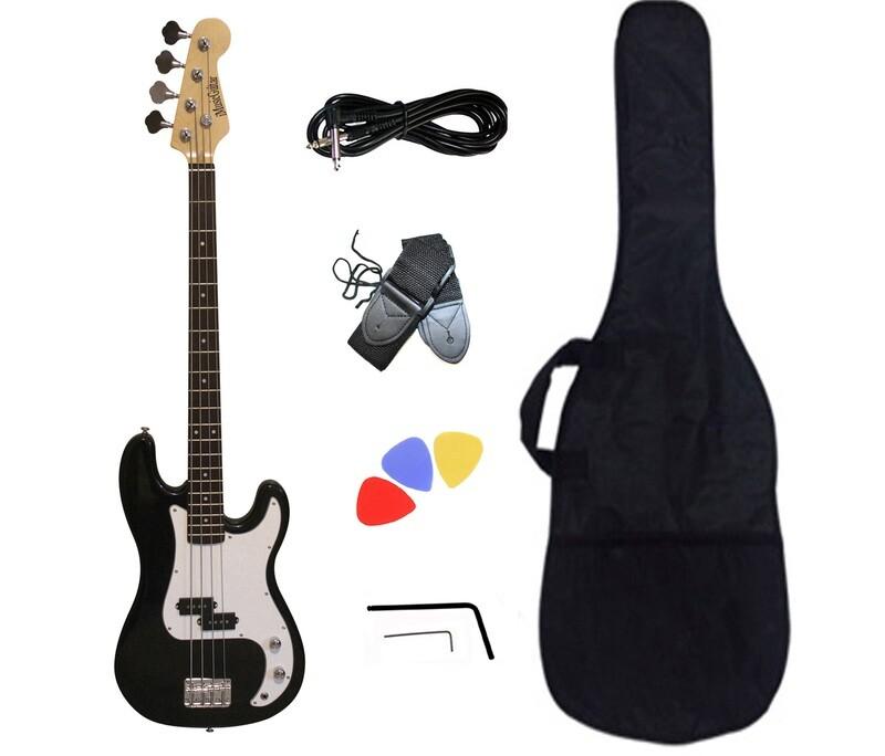 Bass Guitar for Beginners Black PB871