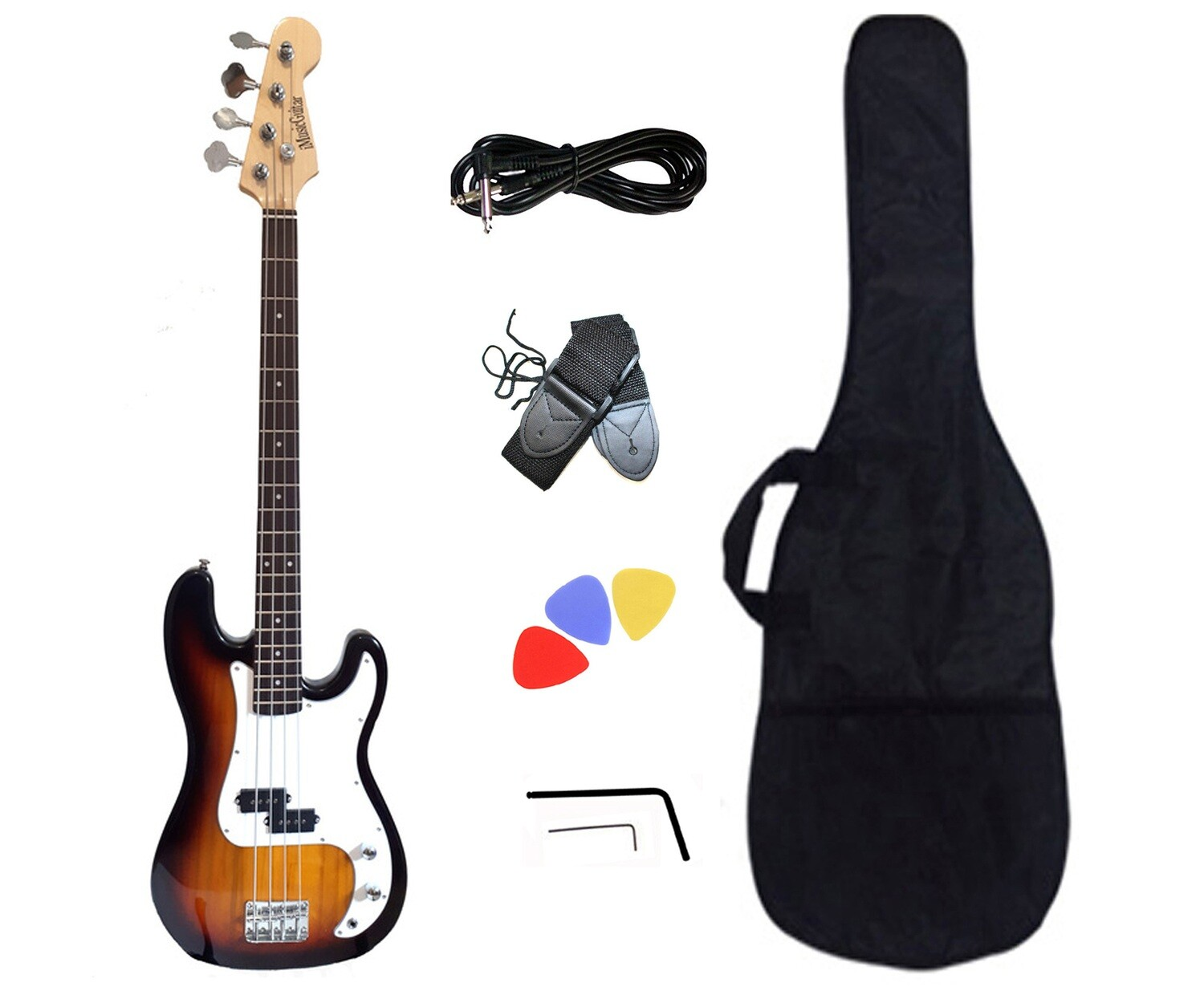 Bass Guitar Sunburst for Beginners PB873