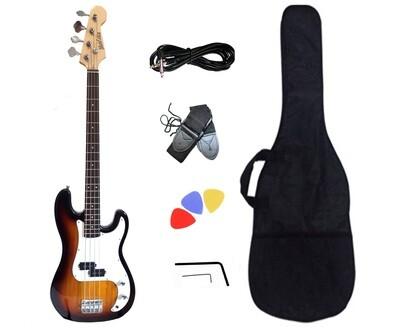 Bass Guitar Sunburst for Beginners PB873