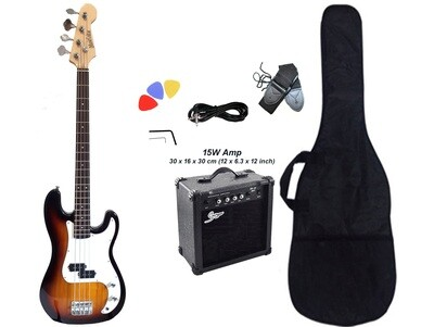Bass Guitar with 15W Amp Package for Beginners iMEB873PKT