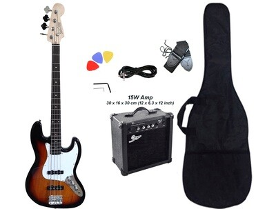 Bass Guitar Jazz Sunburst iMEB891PKT 15W Amp Package