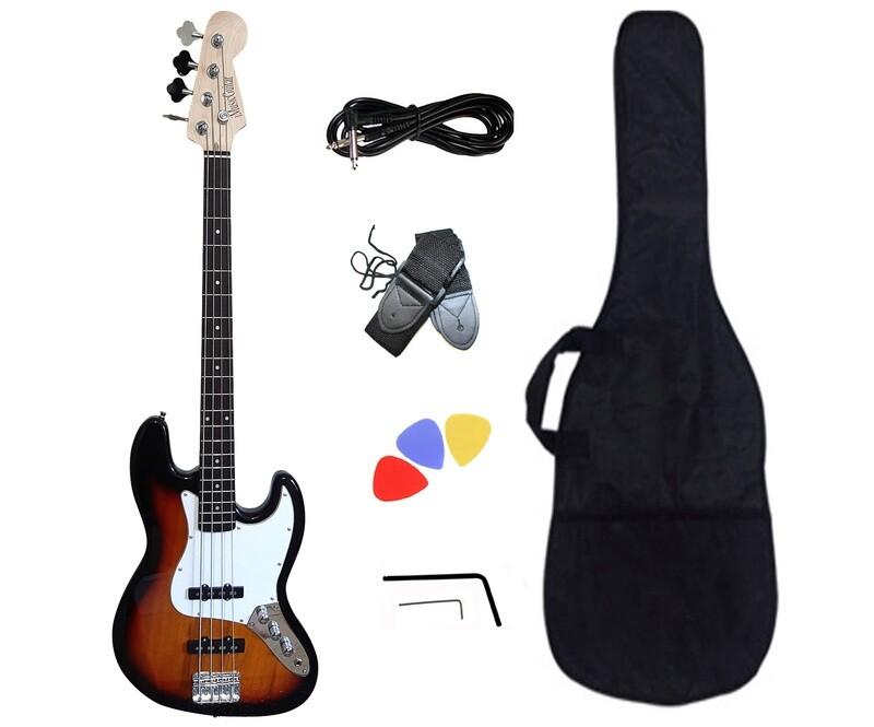 Bass Guitar 4 String Jazz Sunburst iMEB891