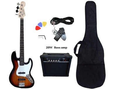 Bass Guitar 4 String Jazz Sunburst PB89120