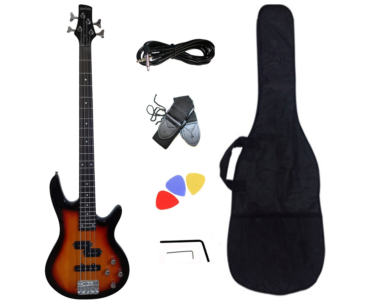 Bass Guitar for Beginners Sunburst iMEB887