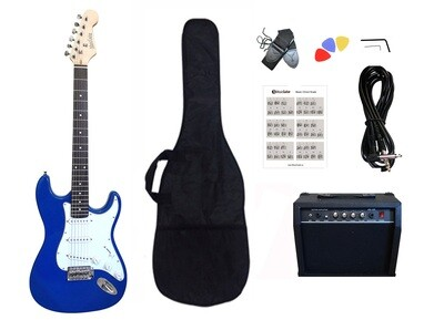 Electric Guitar 20W amp Package for beginners Blue PG463