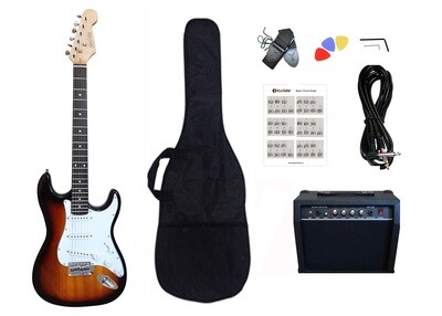Electric Guitar 20W amp Package for beginners Sunburst PG464