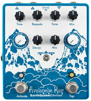 Avalanche Run Stereo Reverb & Delay with Tap Tempo EarthQuaker Devices