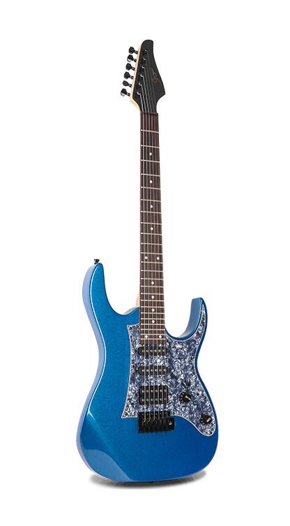 Electric Guitar 24 Fret full size Blue Premium PPE797