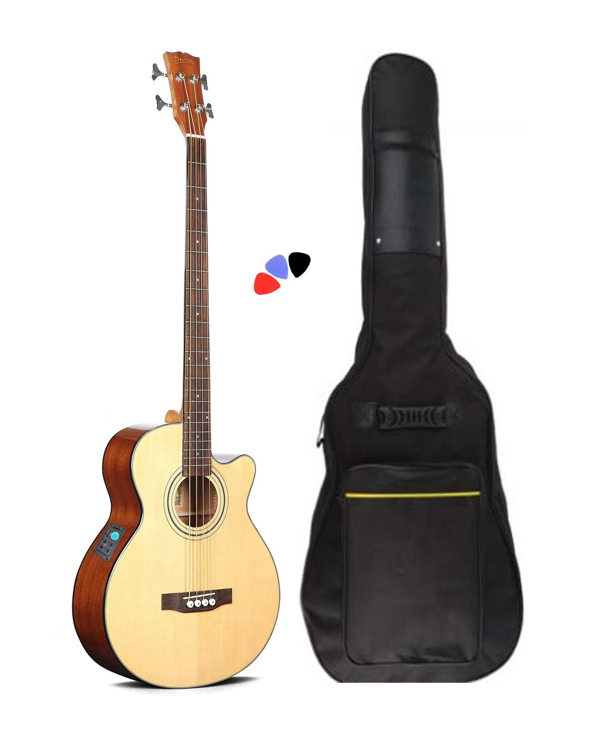 Acoustic Electric  Bass Guitar built in tuner 4 string PBA2874