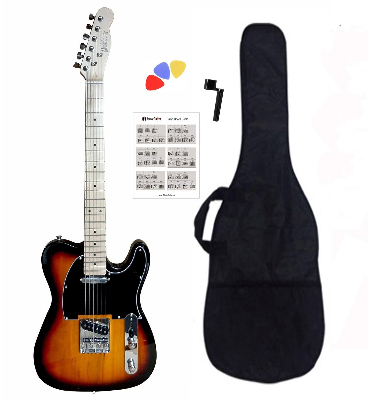 Electric Guitar Telecaster type for beginners Sunburst PG365T