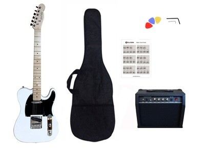 Electric Guitar 20W amp Package for beginners White PG367