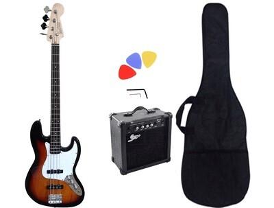 Bass Guitar Jazz Sunburst iMEB891PKT 15W Amp Package