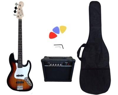 Bass Guitar 4 String Jazz Sunburst PB89120