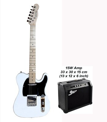 Electric Guitar Telecaster type for with 15W amp White PG367PK