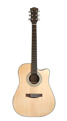 Top Solid Cedar Acoustic Electric guitar 41 inch iMusic235E with minor Error on top