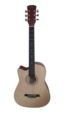 Left handed Acoustic Guitar 38 inch for Beginners, Children, Small hand adults Natural SPS331LF