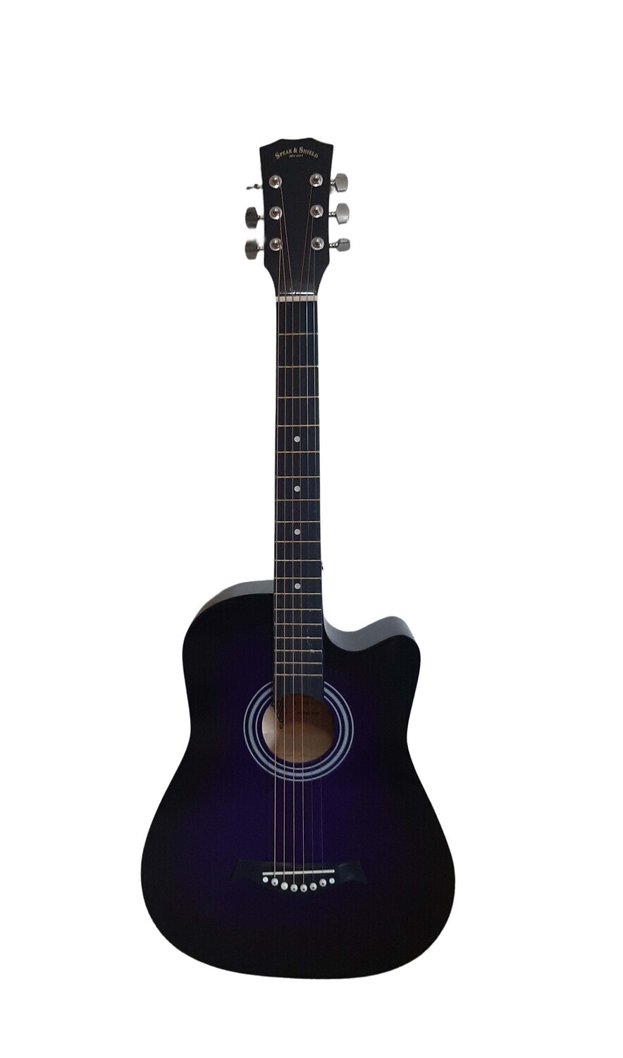 Acoustic Guitar 38 inch for Beginners, Children, Small hand adults Purple SPS337